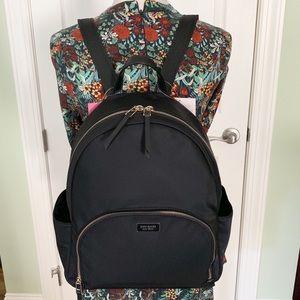 Kate spade Large Backpack dawn black nylon NWT